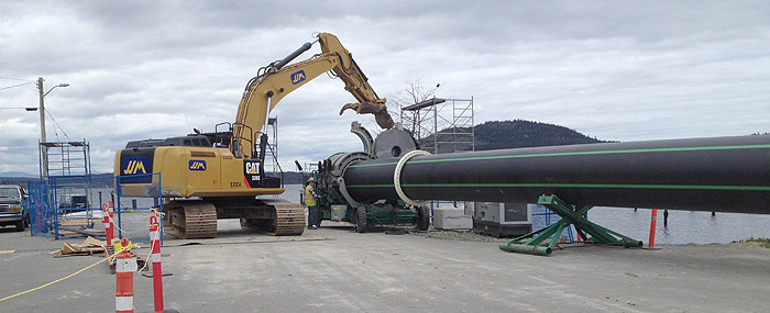 Pipe assembly in Nanoose Bay, April 2016