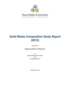 2012 Waste Composition Study