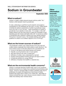 Sodium in Groundwater