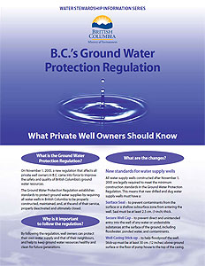 Ground Water Protection Regulation