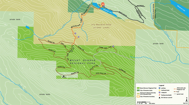 Mount Benson Regional Park Map