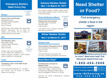Shelter and Food Brochure