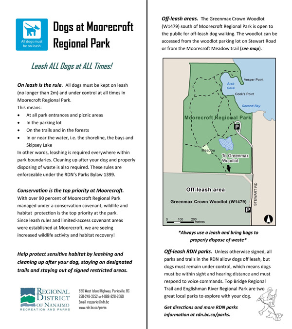 Dogs at Moorecroft - Brochure