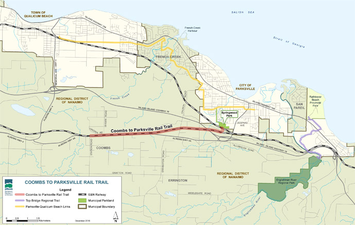 Coombs to Parksville Rail Trail Map