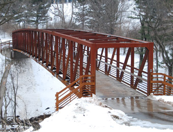 Example steel-truss pedestrian bridge