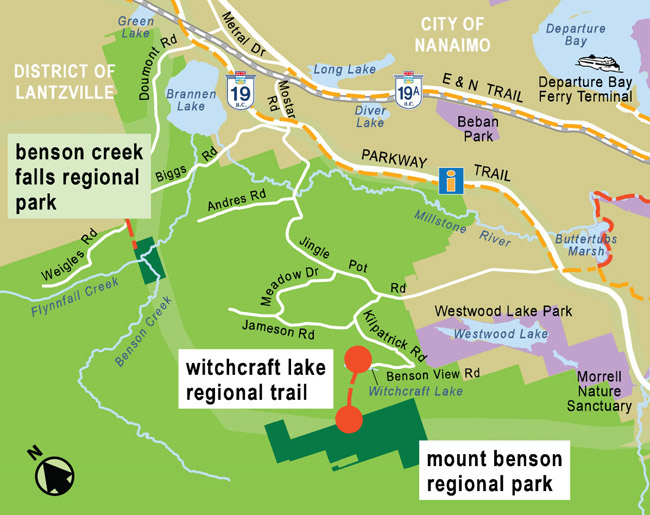 Witchcraft Lake Regional Trail Map