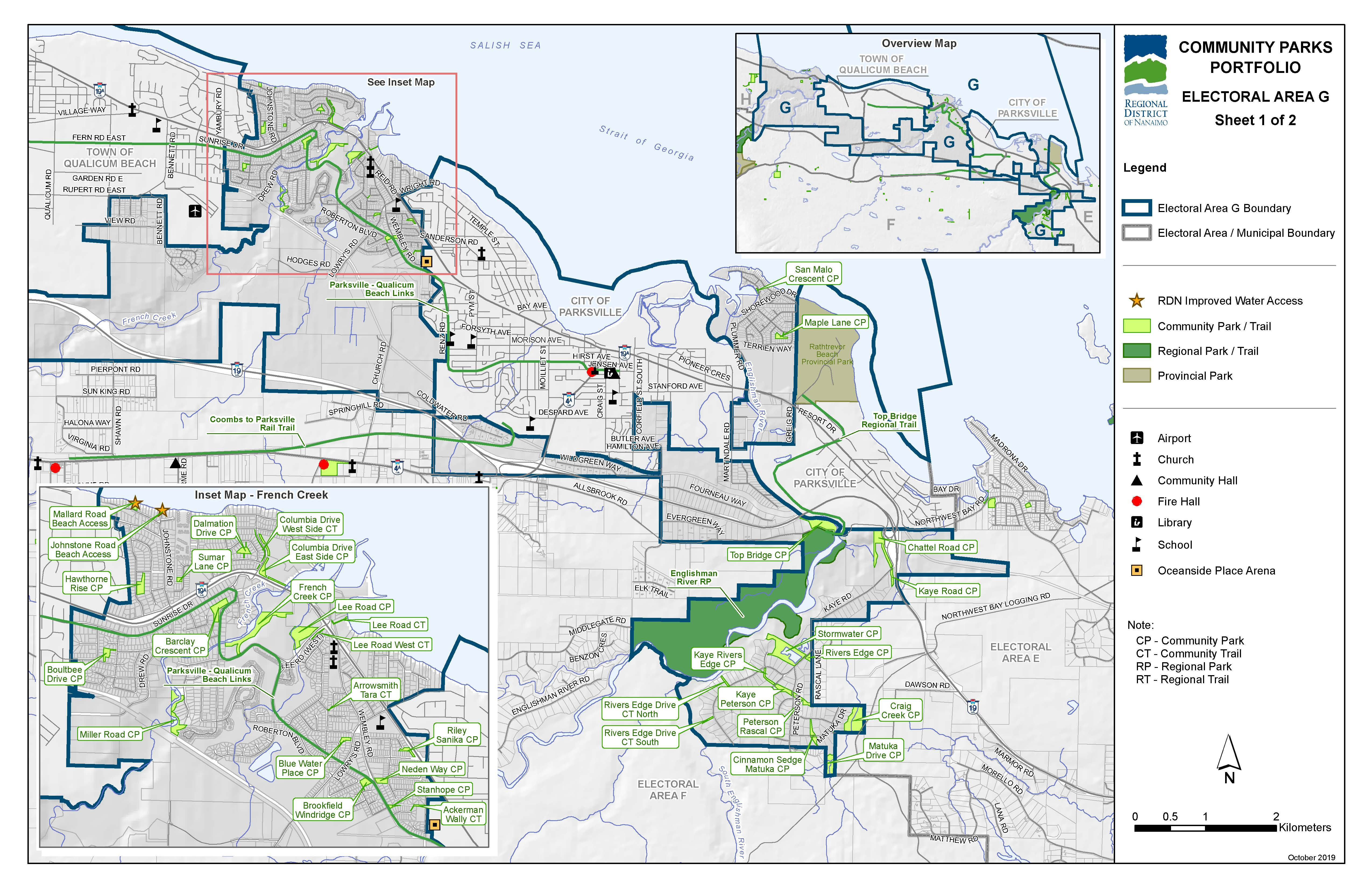 Community Parks and Trails in Area G (East)