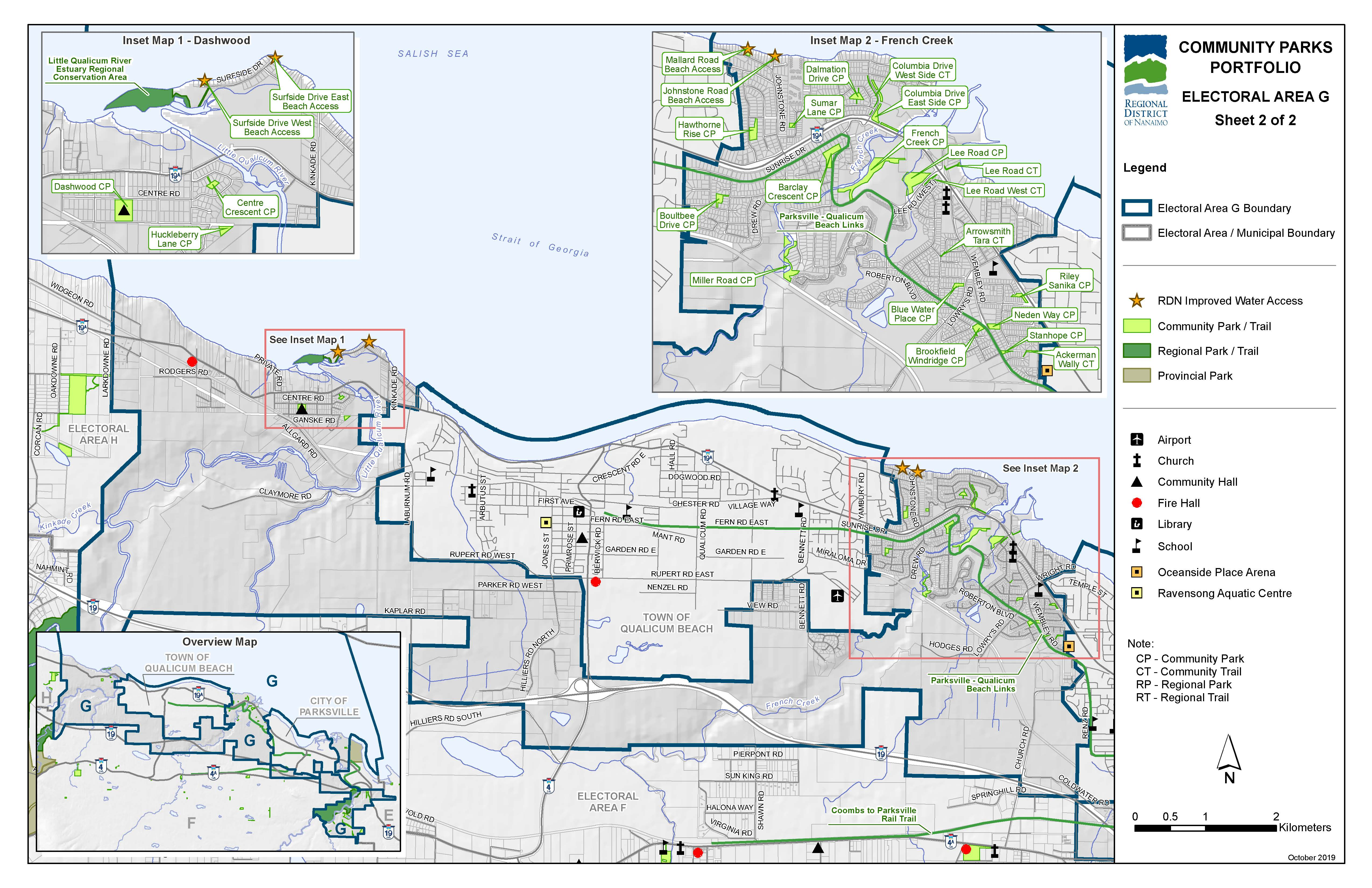Community Parks and Trails in Area G (West)