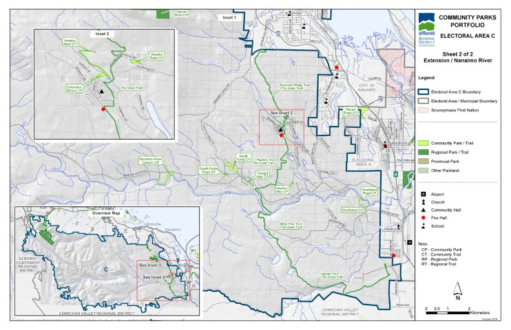 Area C Extension/Nanaimo River Community Parks Map